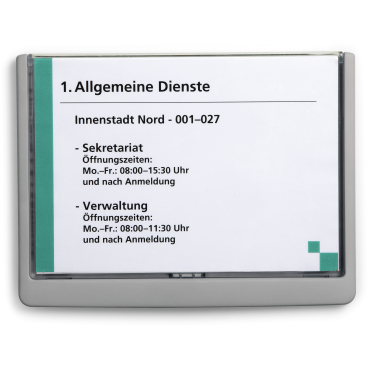 DURABLE CLICK SIGN A5 Türschild, 210 x 148,5 mm Farbe: graphit