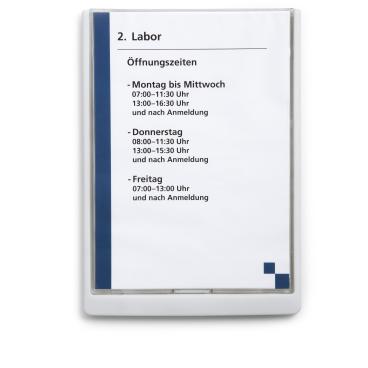 DURABLE CLICK SIGN A4 Türschild, 210 x 297 mm Farbe: weiß