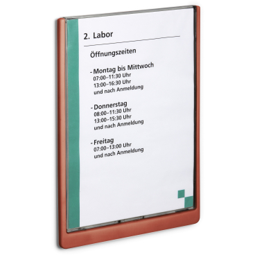 DURABLE CLICK SIGN A4 Türschild, 210 x 297 mm Farbe: rot
