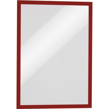 DURABLE DURAFRAME® MAGNETIC A3 Info-Rahmen 1 Beutel = 5 Stück, Farbe: rot