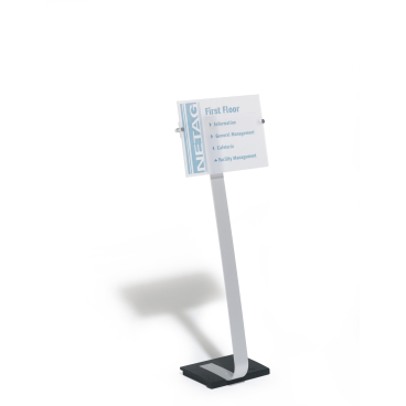 DURABLE CRYSTAL SIGN stand A3 Bodenständer Farbe: metallic silber