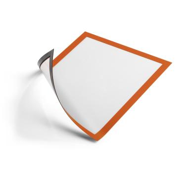 DURABLE DURAFRAME® MAGNETIC A4 Info-Rahmen 1 Beutel = 5 Stück, Farbe: orange