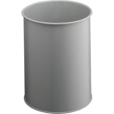 DURABLE Papierkorb Metall, 15 Liter Farbe: grau