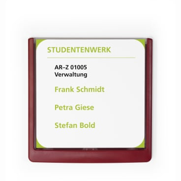 DURABLE CLICK SIGN Türschild, 149 x 148,5 mm Farbe: rot