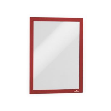 DURABLE DURAFRAME® A4 Info-Rahmen 1 Stück, einzeln verpackt, Farbe: rot