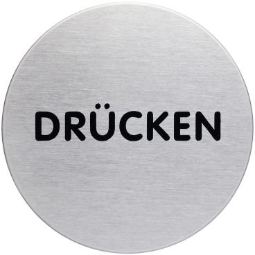 """DURABLE PICTO Piktogramm """"DRÜCKEN"""", Ø 83 mm"""