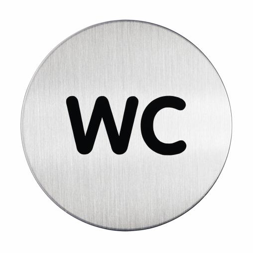 DURABLE PICTO WC Piktogramm, Ø 83 mm