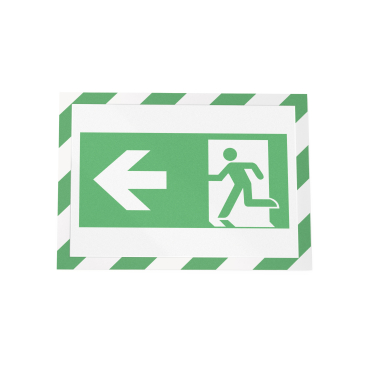 DURABLE DURAFRAME® SECURITY A4 Info-Rahmen 1 Beutel = 2 Stück, Farbe: grün/weiß