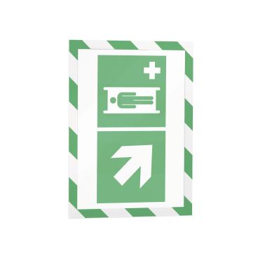 DURABLE DURAFRAME® MAGNETIC SECURITY A4 Info-Rahmen 1 Beutel = 5 Stück, Farbe: grün/weiß