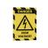 DURABLE DURAFRAME® MAGNETIC SECURITY A4 Info-Rahmen 1 Beutel = 5 Stück, Farbe: gelb/schwarz