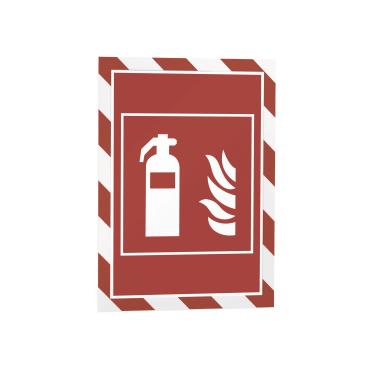 DURABLE DURAFRAME® MAGNETIC SECURITY A4 Info-Rahmen 1 Beutel = 5 Stück, Farbe: rot/weiß