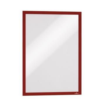 DURABLE DURAFRAME® A3 Info-Rahmen 1 Packung = 6 Stück, Farbe: rot
