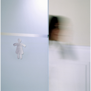 DURABLE WC-Symbol, 120 x 91 mm Damen, Farbe: metallic silber