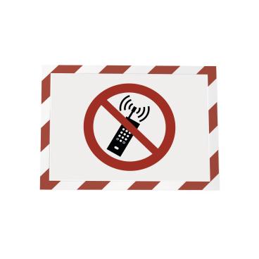 DURABLE DURAFRAME® SECURITY A4 Info-Rahmen 1 Beutel = 2 Stück, Farbe: rot/weiß