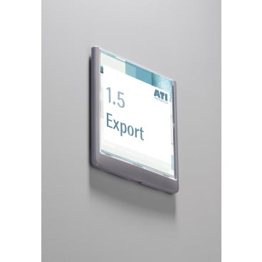 DURABLE CLICK SIGN Türschild, 149 x 148,5 mm Farbe: graphit