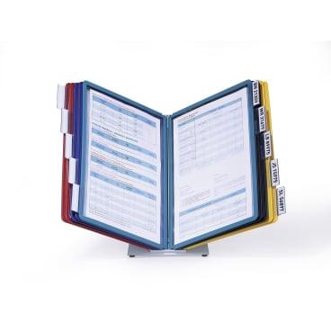 DURABLE VARIO® TABLE 10 Tischständer 1 Set = 1 Tischständer + 10 Sichttafeln, Farbe: farbig sortiert