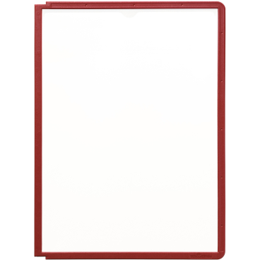 DURABLE Sherpa® Panel A4 Info-Rahmen 1 Packung = 5 Stück, Farbe: rot