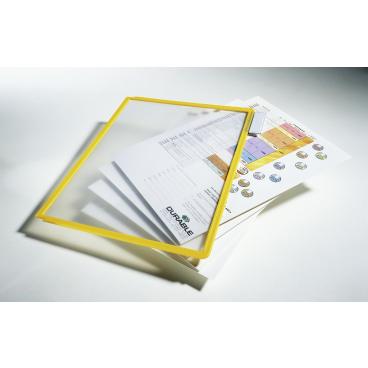 DURABLE SHERPA® PANEL A4 Info-Rahmen 1 Packung = 5 Stück, Farbe: gelb
