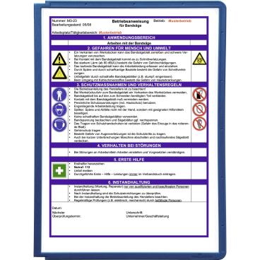 DURABLE SHERPA® PANEL A4 Info-Rahmen 1 Packung = 5 Stück, Farbe: blau