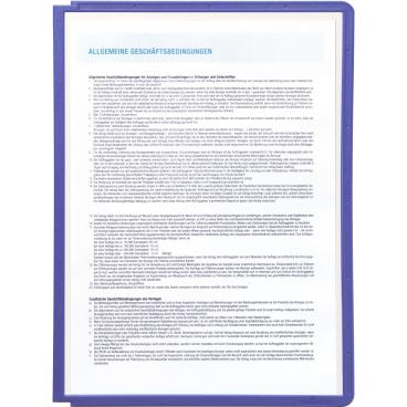 DURABLE SHERPA® PANEL A4 Info-Rahmen 1 Packung = 5 Stück, Farbe: blau violett