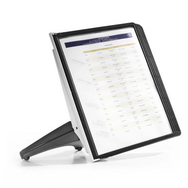 DURABLE SHERPA® SOHO 5 Tischständer 1 Set = 1 Tafelträger, 5 schwarze Sichttafeln, 1 Fuß