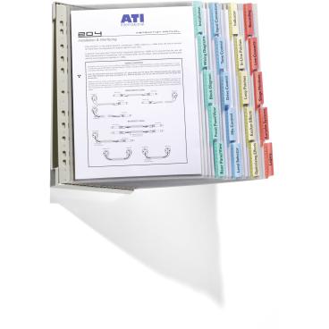 DURABLE FUNCTION WALL 20 Sichttafelset 1 Set = 20 Tafeln + 1 Wandhalter, farbig sortiert