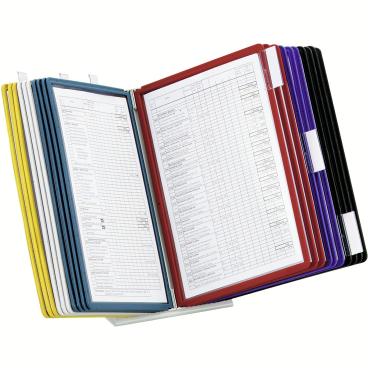 DURABLE VARIO® TABLE 20 Tischständer 1 Set = 1 Tischständer + 20 Sichttafeln, Farbe: farbig sortiert