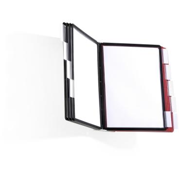 DURABLE SHERPA® WALL 10 1 Set = 1 Tafelträger + 10 Sichttafeln, farbig sortiert