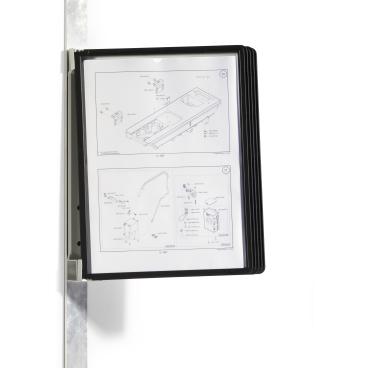 DURABLE Vario® Magnet Wall 5 Sichttafelsystem 1 Set = 1 Wandhalter + 5 Sichttafeln