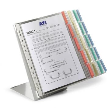 DURABLE FUNCTION TABLE 20 Sichttafelset 1 Set = 20 Tafeln + 1 Tischständer, farbig sortiert