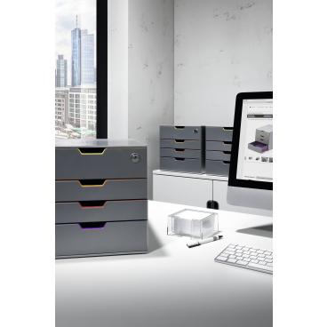 DURABLE VARICOLOR® SAFE Schubladenbox Maße: 280 x 292 x 356 mm, Farbe: farbiger Ablauf/Verlauf