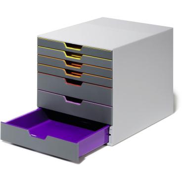 DURABLE VARICOLOR® 7 Schubladenbox Maße: 280 x 292 x 356 mm, Farbe: farbiger Ablauf/Verlauf