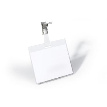 DURABLE Namensschild mit Clip 1 Packung = 25 Stück
