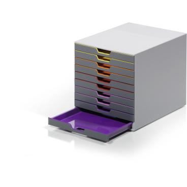 DURABLE Varicolor® 10 Schubladenbox Farbe: farbiger Ablauf / Verlauf