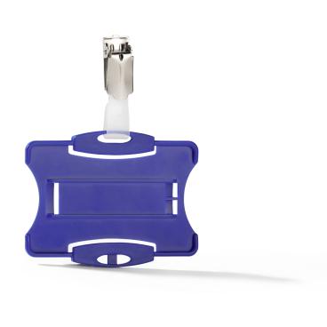 DURABLE Ausweishalter mit Clip für 1 Betriebsausweis 1 Packung = 25 Stück, Farbe: blau