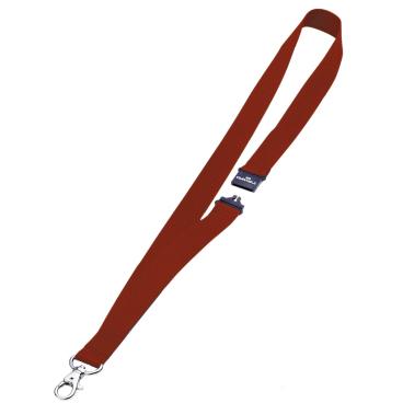 DURABLE Textilband 20 mit Sicherheitsverschluss 1 Packung = 10 Stück, Farbe: rot