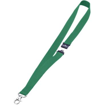 DURABLE Textilband 20 mit Sicherheitsverschluss 1 Packung = 10 Stück, Farbe: grün