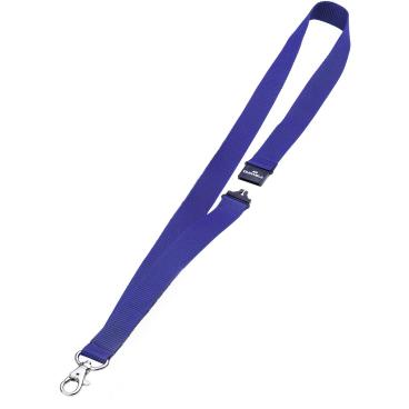 DURABLE Textilband 20 mit Sicherheitsverschluss 1 Packung = 10 Stück, Farbe: dunkelblau