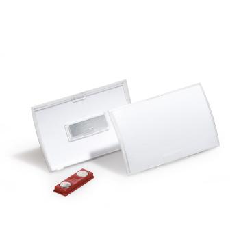 DURABLE CLICK FOLD Namensschild mit Magnet 1 Packung = 10 Stück, Innenmaße: 40 x 75 mm