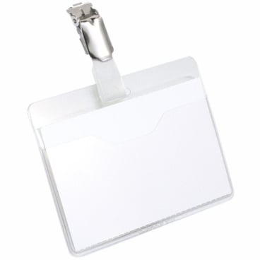 DURABLE Namensschild mit Clip 1 Packung = 25 Stück, Farbe: transparent