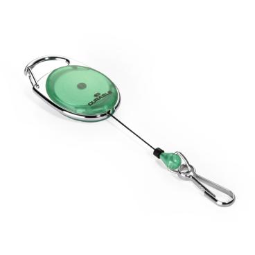 DURABLE JOJO STYLE Ausweishalter mit Federhaken Farbe: grün