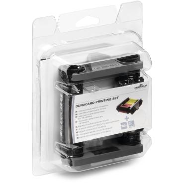DURABLE Duracard Kartendrucker Printing Set 1 Set = 1 Farbband + 100 Kunststoffkarten