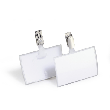 DURABLE CLICK FOLD Namensschild mit Clip 1 Packung = 25 Stück, Innenmaße: 54 x 90 mm