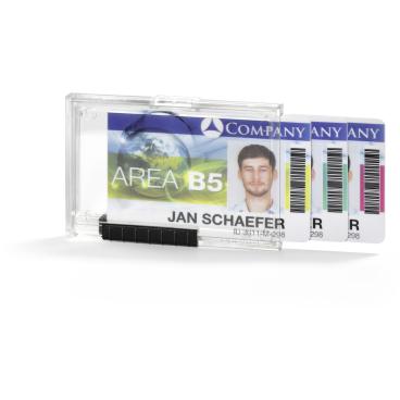 DURABLE PUSHBOX TRIO Kartenhalter 1 Packung = 10 Stück, Farbe: transparent