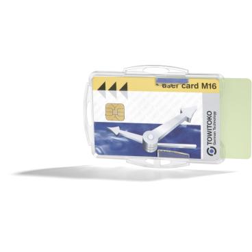 DURABLE Ausweishalter für 2 Betriebsausweise 1 Packung = 10 Stück, Farbe: transparent
