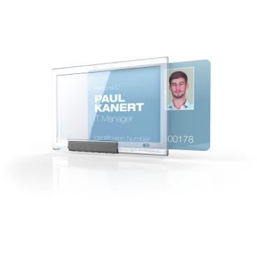 DURABLE PUSHBOX MONO Kartenhalter 1 Packung = 10 Stück, Farbe: transparent