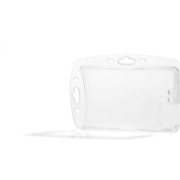 DURABLE Doppelbox für 2 Betriebsausweise 1 Packung = 10 Stück, Farbe: transparent