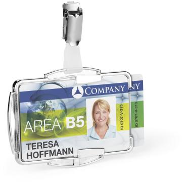 DURABLE RFID SECURE DUO Kartenhalter 1 Packung = 10 Stück, Innenmaße: 54 x 87 mm