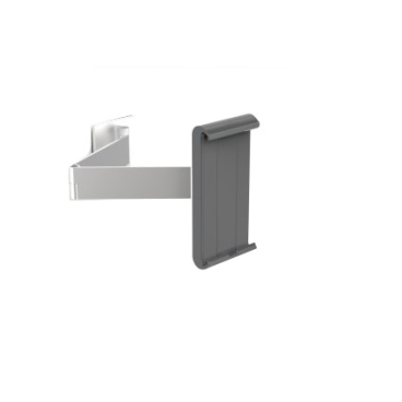 DURABLE TABLET HOLDER WALL ARM Tablet Wandhalterung Farbe: metallic silber