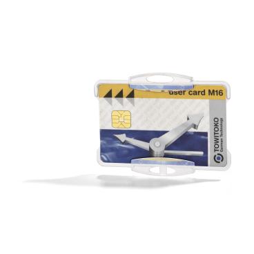 DURABLE Ausweishalter für einen Betriebsausweis 1 Packung = 10 Stück, Farbe: transparent